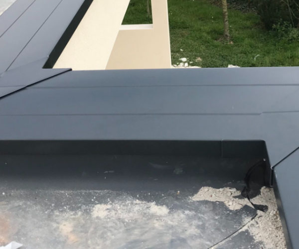 Pose de couvertines en aluminium DAL'ALU